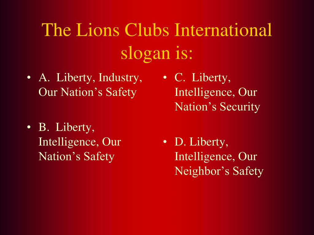 A.  Liberty, Industry, Our Nation's Safety