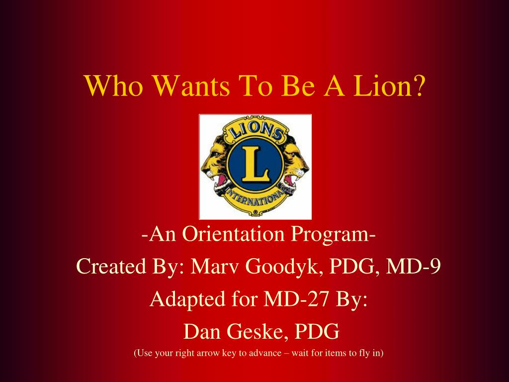 -An Orientation Program-