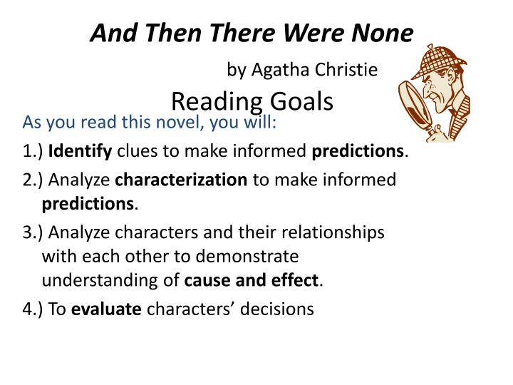 an analysis of the novel and then there were none by agatha christie Critical analysis of works stylistic devices agatha christie had to test over agatha christie, and then there were none in what book did agatha christie.