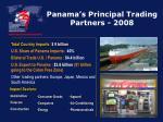 panama s principal trading partners 2008
