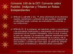 convenio 169 de la oit convenio sobre pueblos ind genas y tribales en pa ses independientes