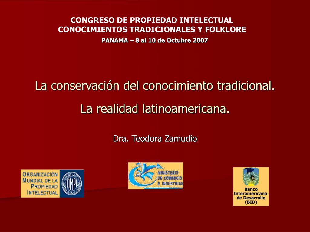 la conservaci n del conocimiento tradicional la realidad latinoamericana l.