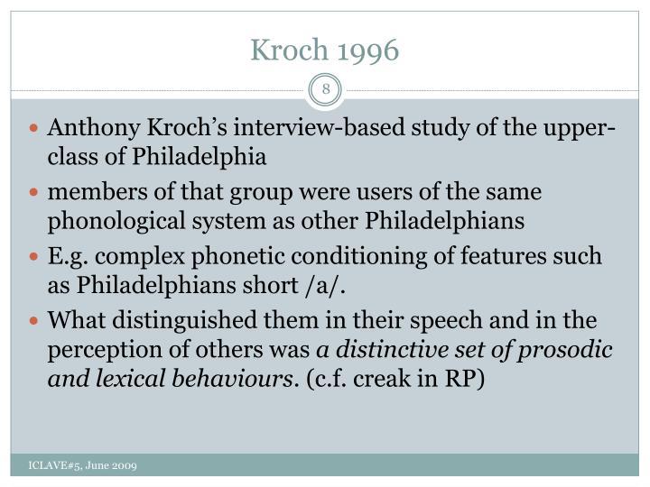 Kroch 1996