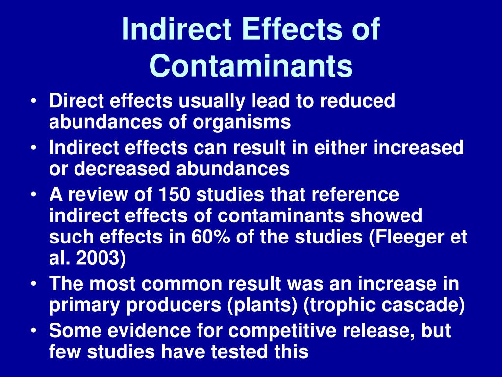 Indirect Effects of Contaminants