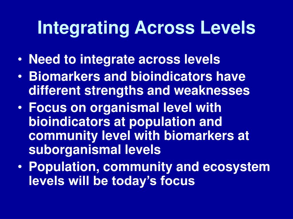 Integrating Across Levels