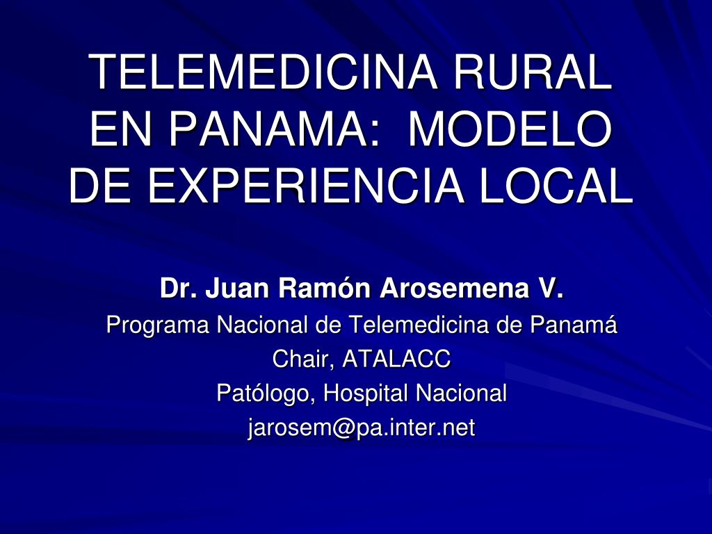 telemedicina rural en panama modelo de experiencia local l.