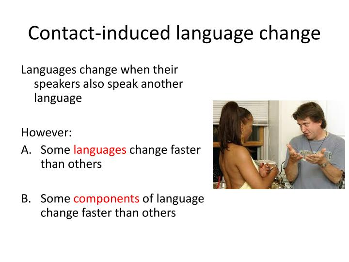 Contact induced language change