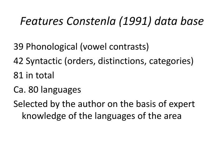 Features Constenla