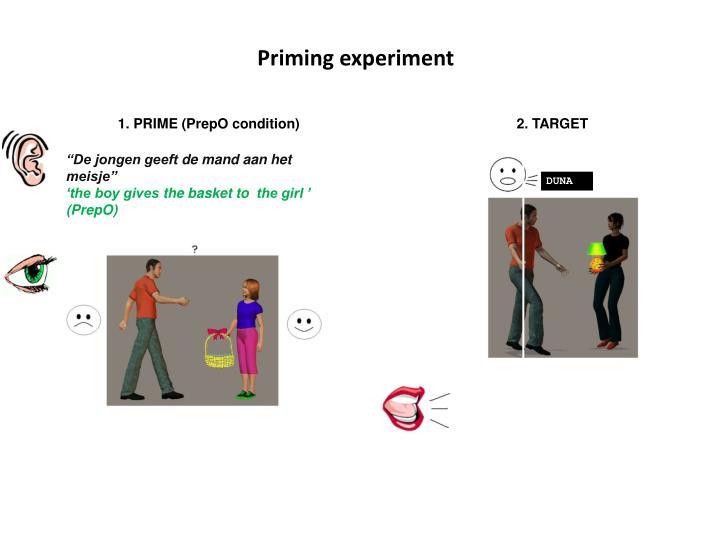 Priming experiment