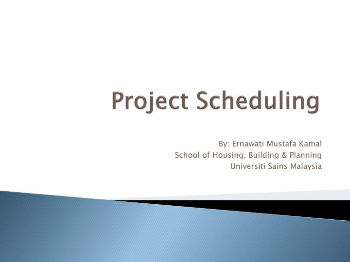 project scheduling n.