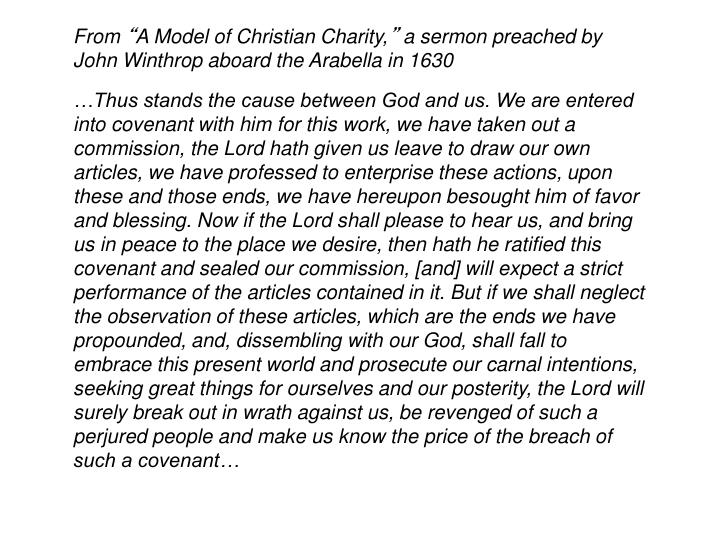 From A Model Of Christian Charity Sermon Preached By John Winthrop Aboard The Arabella In 1630
