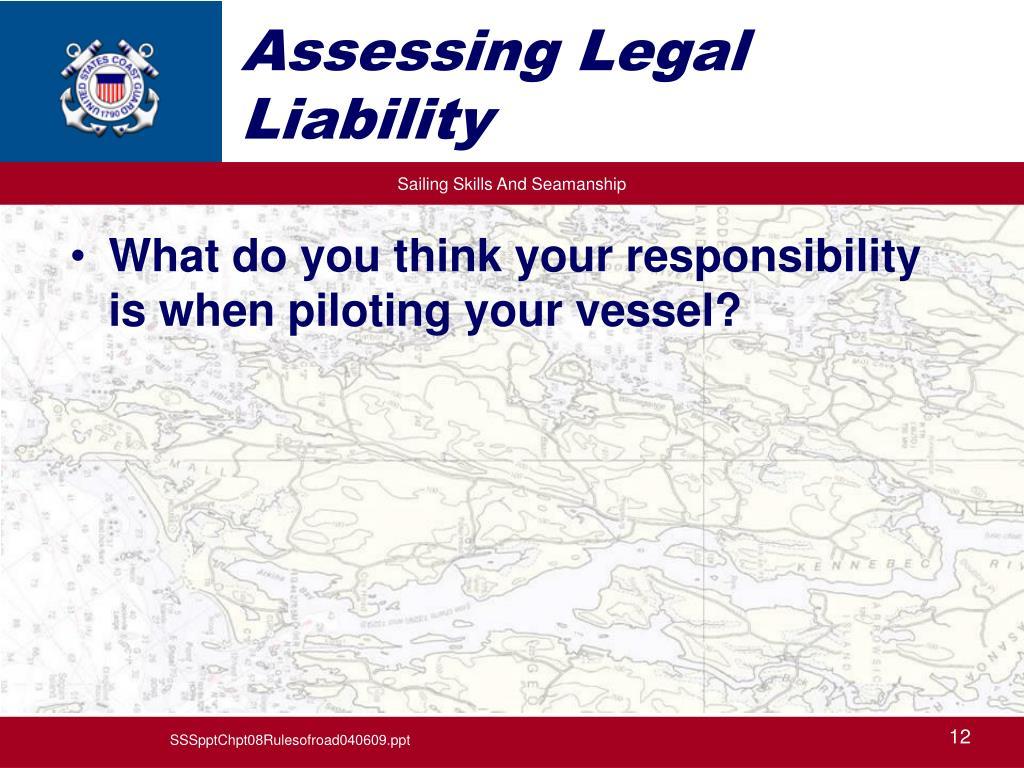 Assessing Legal Liability