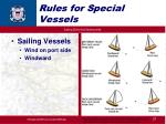 rules for special vessels21