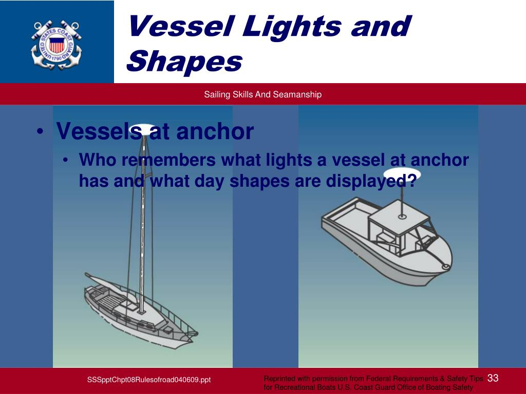 Vessel Lights and Shapes