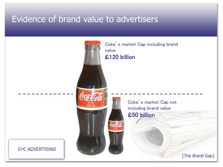 Evidence of brand value to advertisers