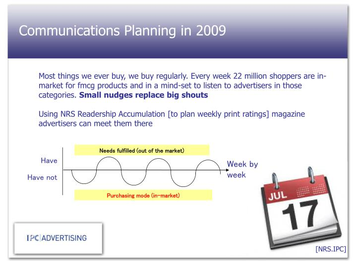 Communications Planning in 2009