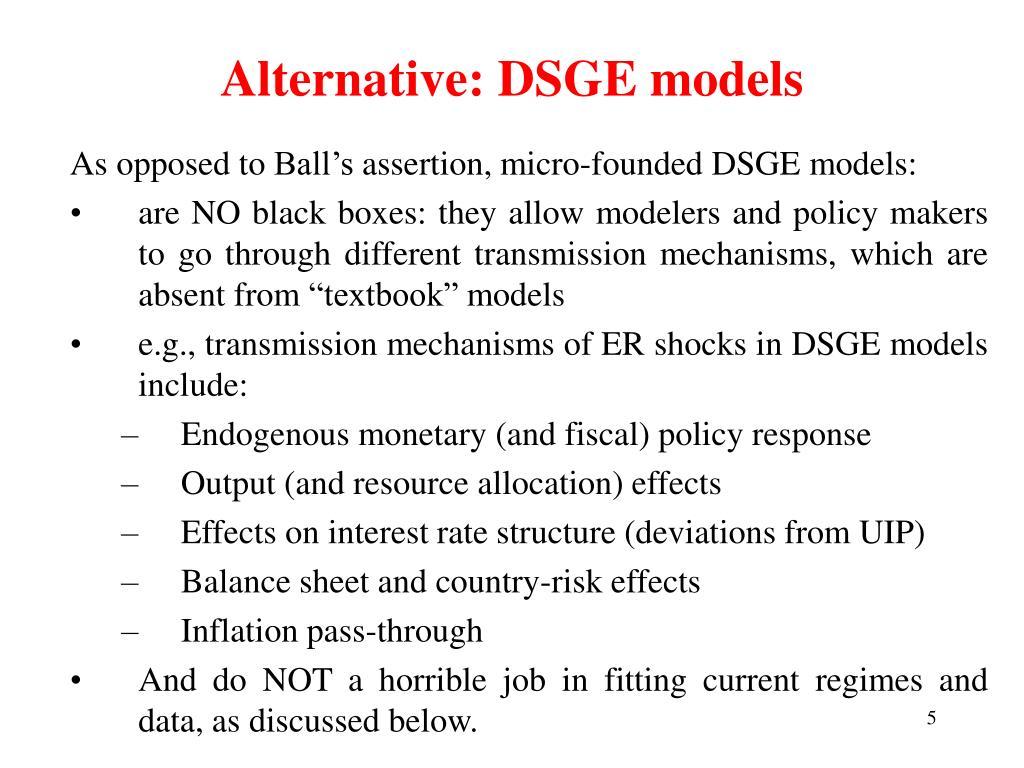 Alternative: DSGE models
