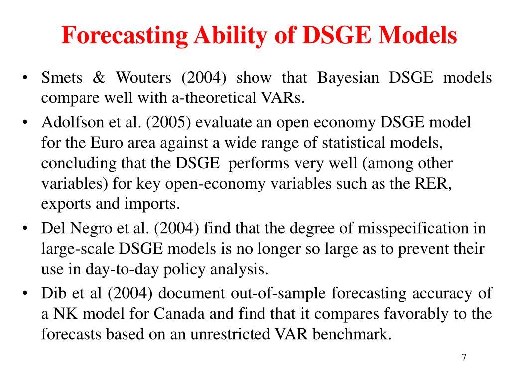 Forecasting Ability of DSGE Models