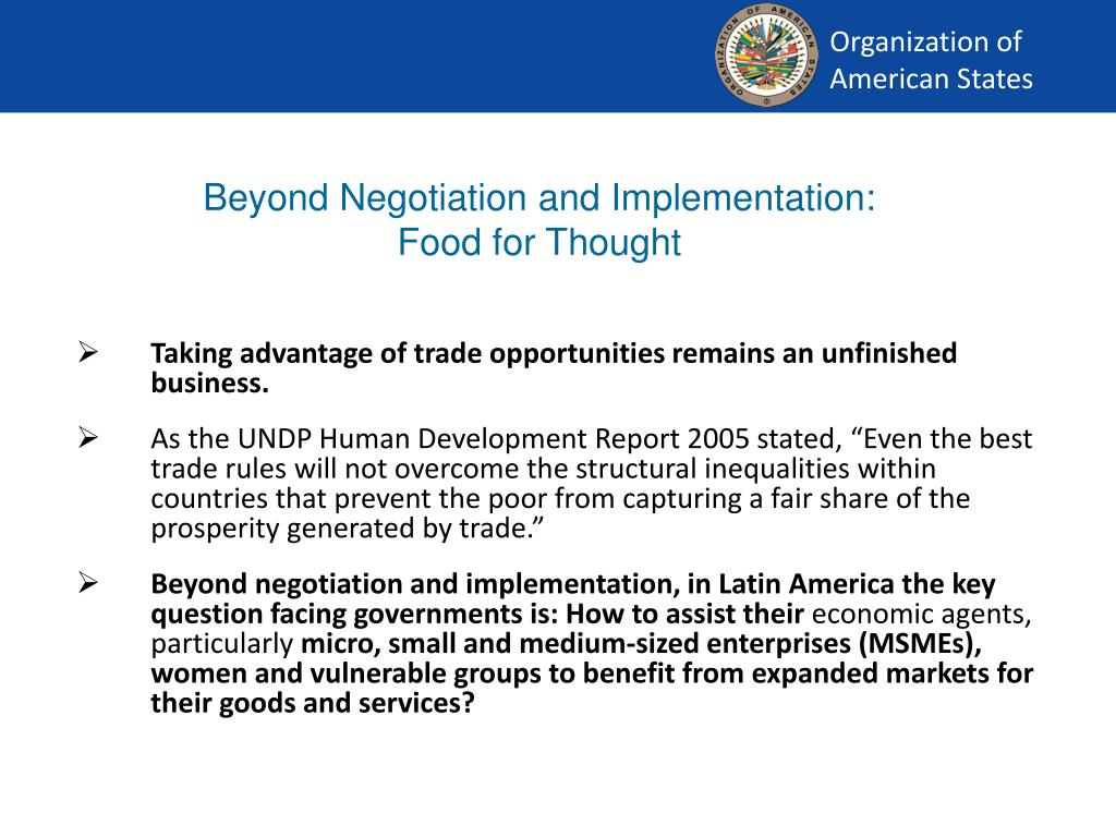 Beyond Negotiation and Implementation:
