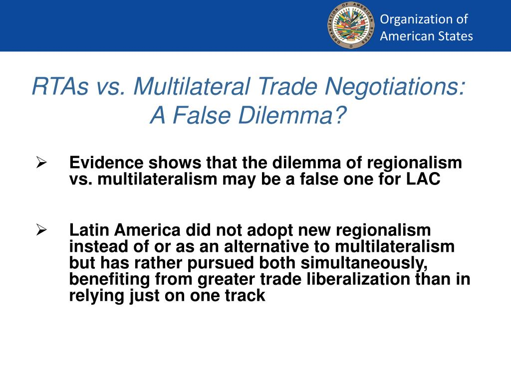 RTAs vs. Multilateral Trade Negotiations: