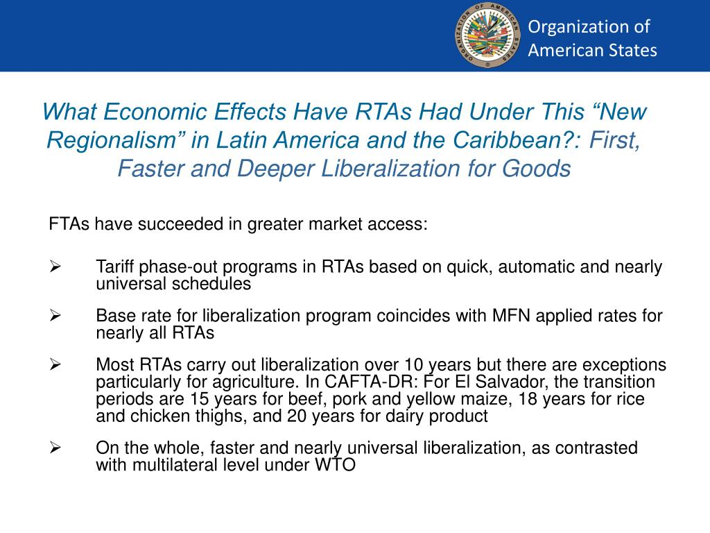 """What Economic Effects Have RTAs Had Under This """"New Regionalism"""" in Latin America and the Caribbean?:"""