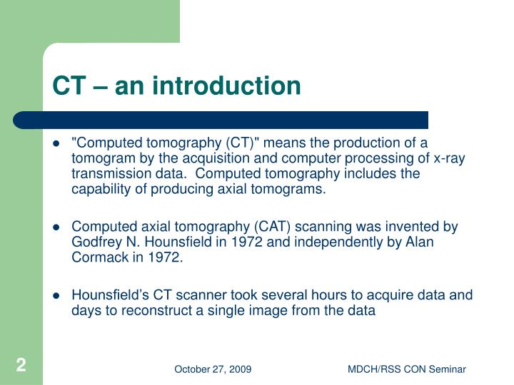 Ct an introduction