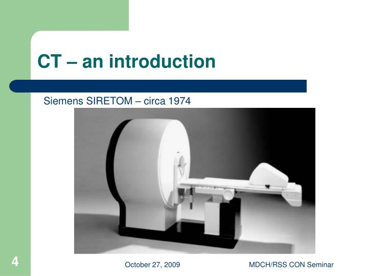 CT – an introduction