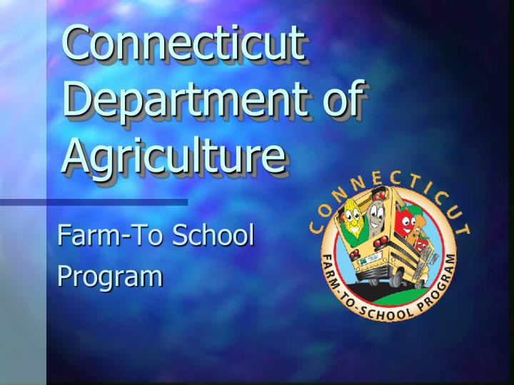 connecticut department of agriculture n.
