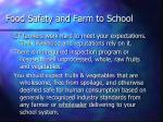 food safety and farm to school