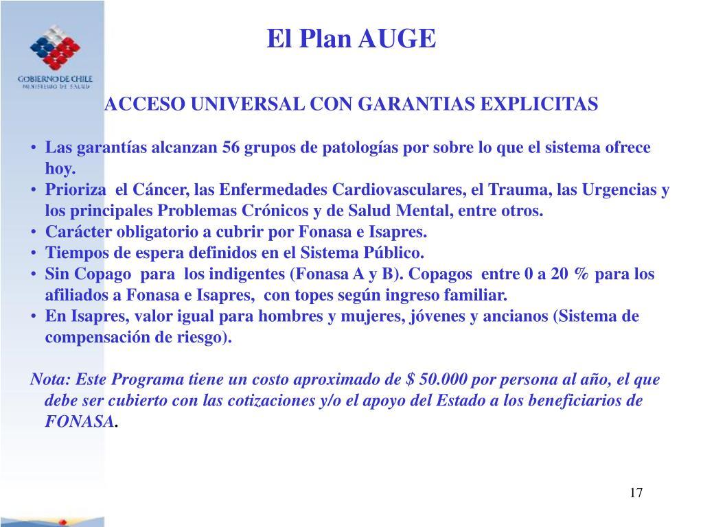 ACCESO UNIVERSAL CON GARANTIAS EXPLICITAS