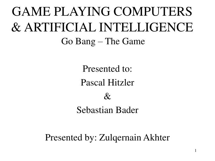 game playing computers artificial intelligence n.