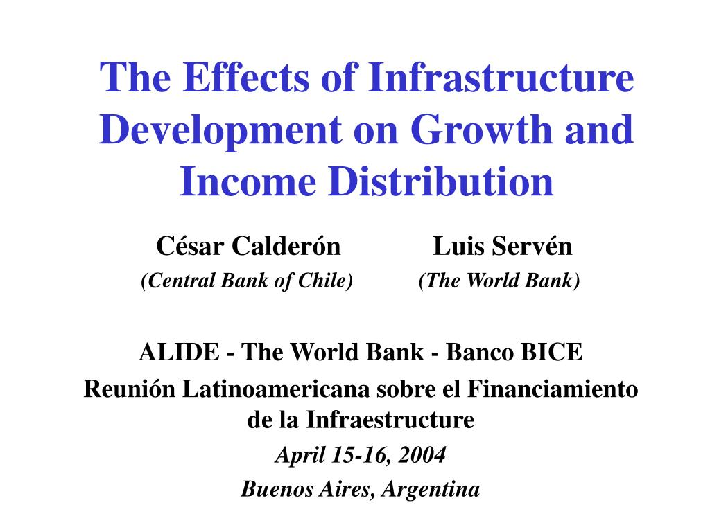 the effects of infrastructure development on growth and income distribution l.