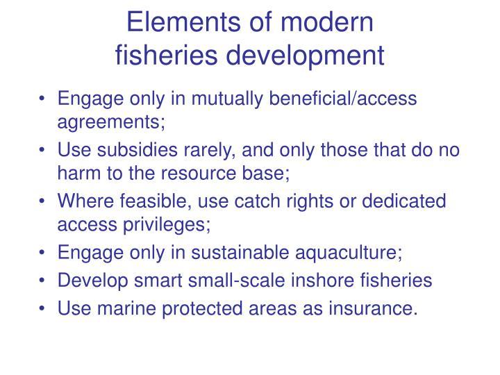 Elements of modern