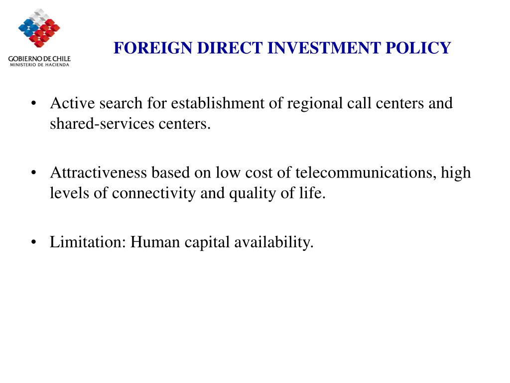 FOREIGN DIRECT INVESTMENT POLICY