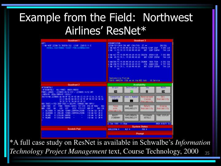 Example from the Field:  Northwest Airlines' ResNet*