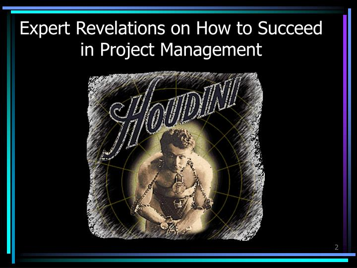 Expert revelations on how to succeed in project management
