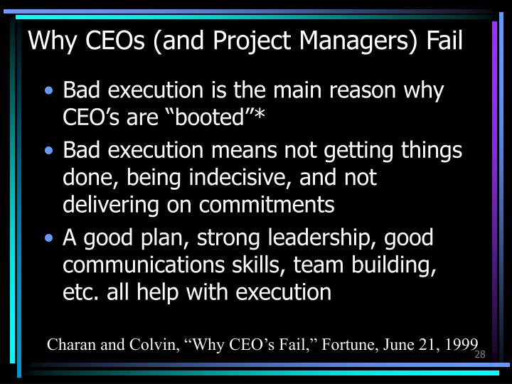 Why CEOs (and Project Managers) Fail