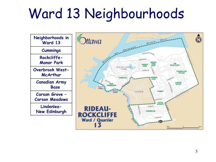 Ward 13 Neighbourhoods