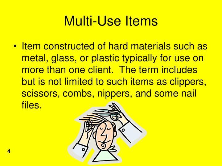 Multi-Use Items