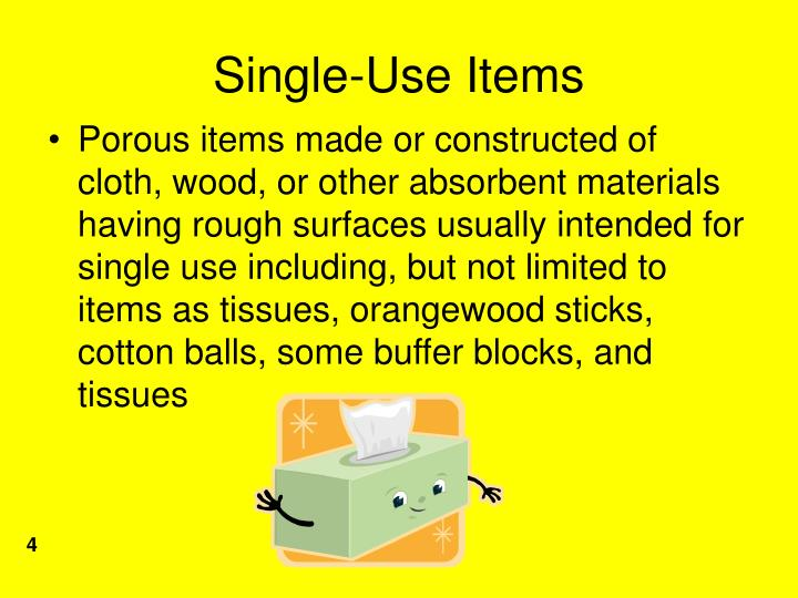 Single-Use Items