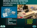medical devices definition includes devices for in vitro examination