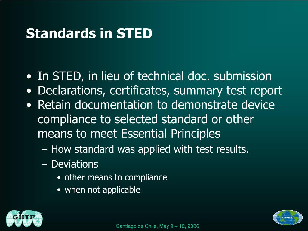 Standards in STED