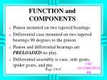 function and components