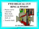 fwd helical cut ring pinion