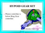 hypoid gear set