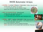 mpifr bolometer arrays