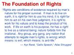 the foundation of rights