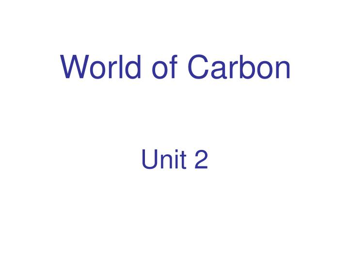 world of carbon n.
