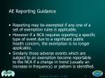 ae reporting guidance50