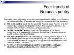 four trends of neruda s poetry